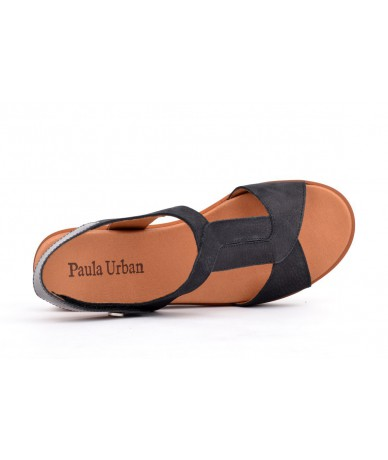 Paula Urban 7-8421 Nobuck Negro - Lemans Grafito